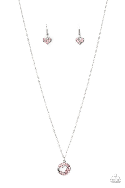 Bare Your Heart - Pink Necklace