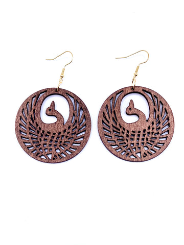 Rise of the Phoenix - Brown Earrings