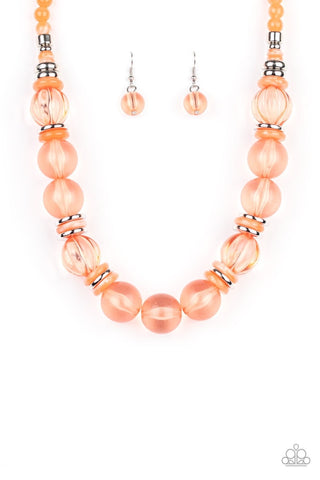 Bubbly Beauty - Orange Necklace