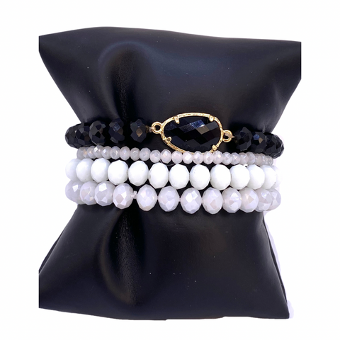 Monochrome - Black/White Bracelets
