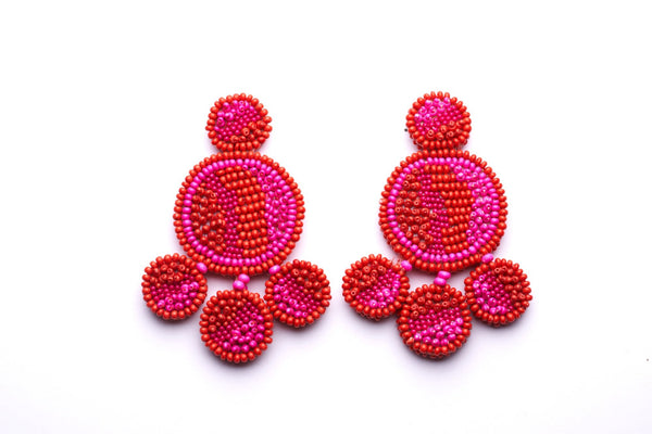 Capricorn Beaded Disc Earrings