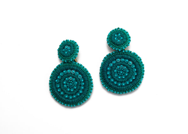 Gemini Beaded Disc Earrings