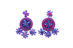 Polaris Beaded Disc Earrings