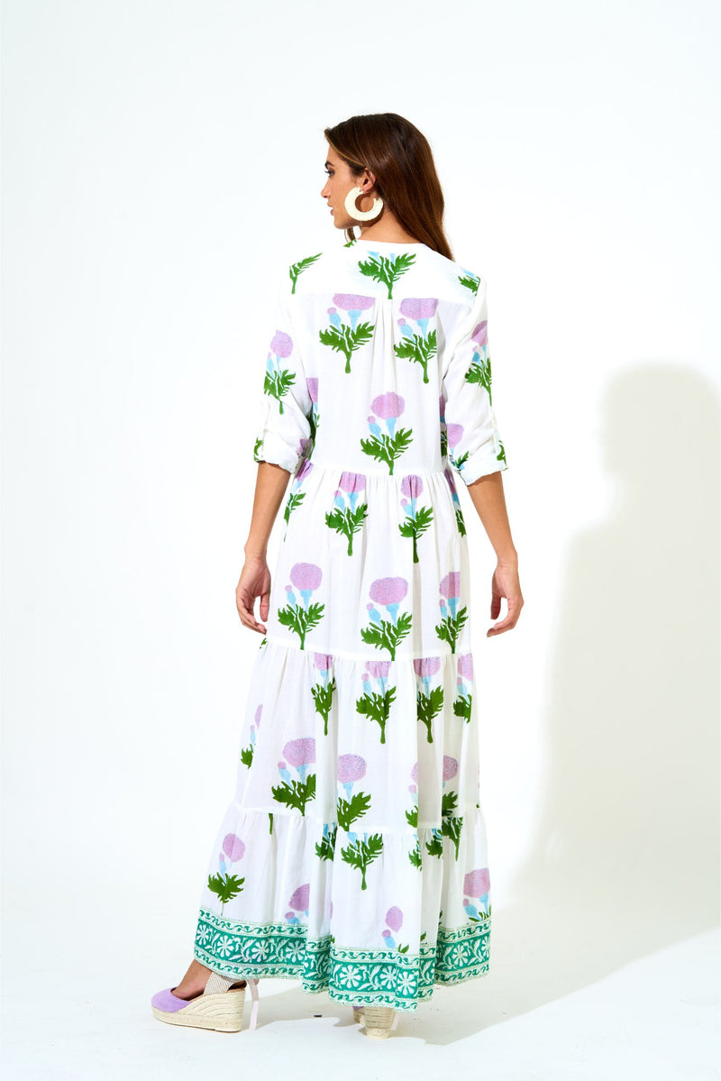 Mandarin Maxi Dress- Bloom Violet
