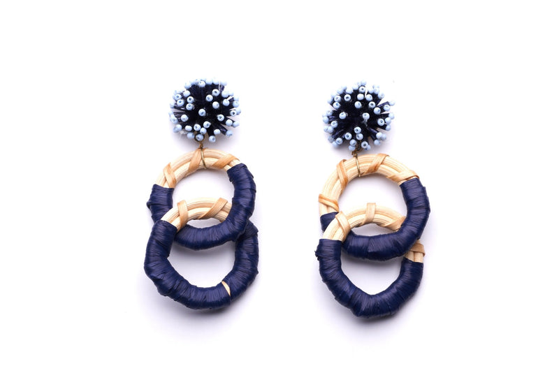 Fireworks Rattan Loop Earrings