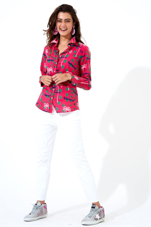 Button Down- Ipanema Pink