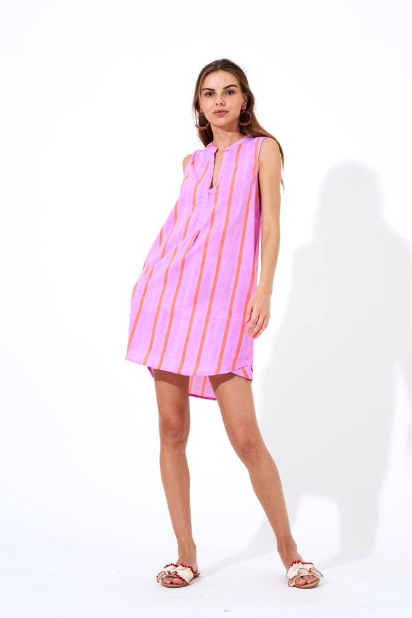 Sleeveless Dress- Zedi Lilac