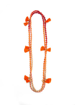 Marigold Tassel Necklace