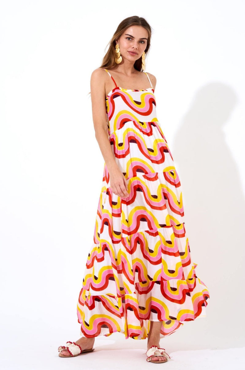 Smocked Back Maxi- Nouveau Yellow