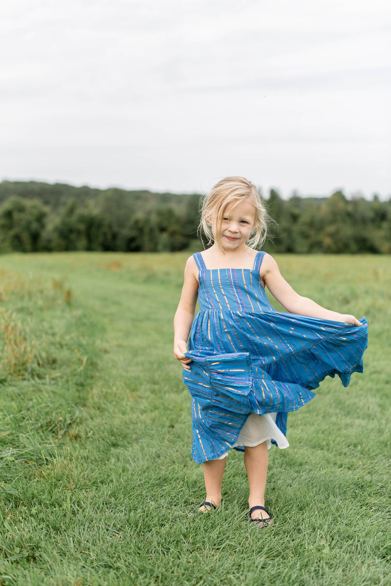 Girl's Maxi Dress- Rio Blue