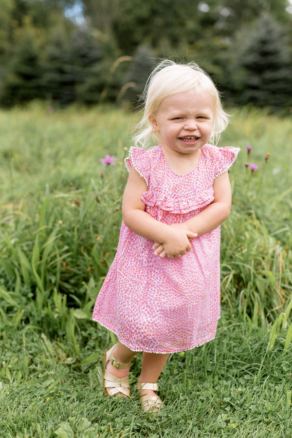 Baby Dress with Bloomers- Pebble Coral