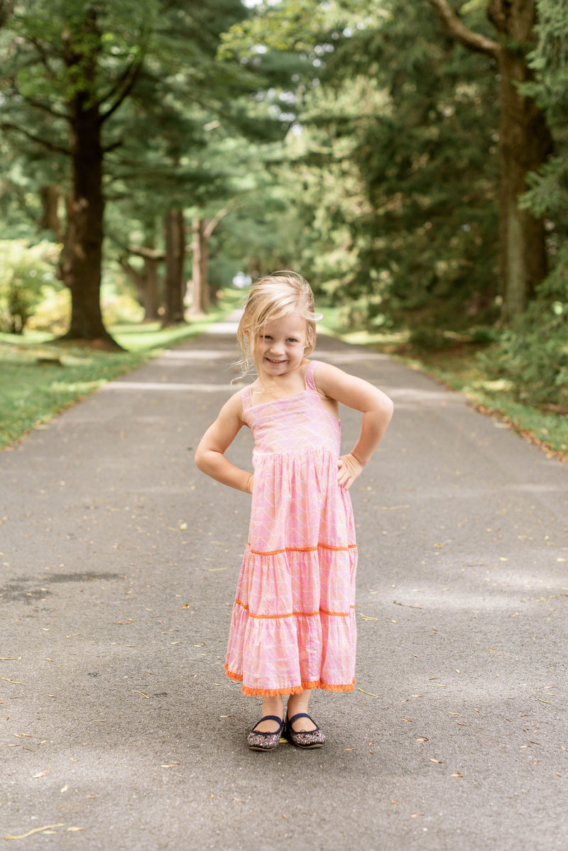 Girl's Maxi Dress- Teton Pink