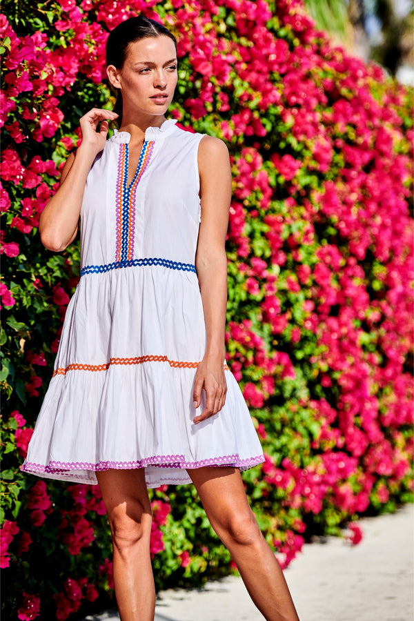 Yoke Dress- Cabo White