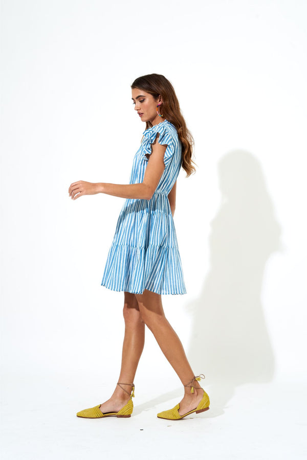 Flirty Short Dress- Playa Mini Blue