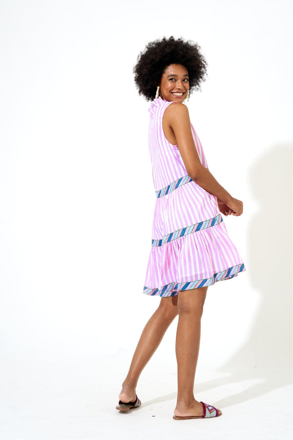 Yoke Dress- Playa Violet