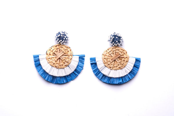 Rattan Fan Earrings