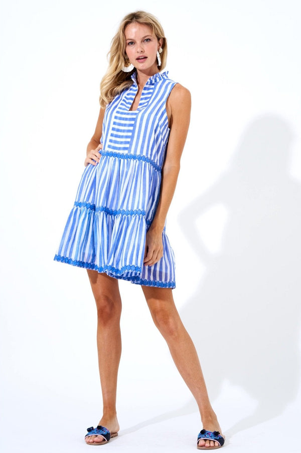 Yoke Dress- Nassau Periwinkle