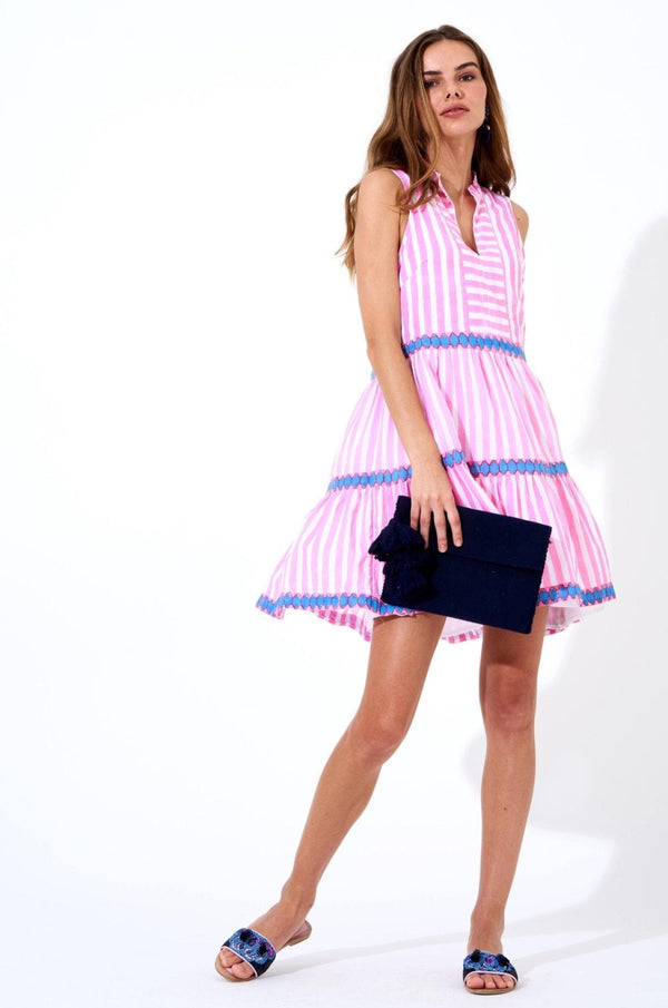 Yoke Dress- Nassau Pink