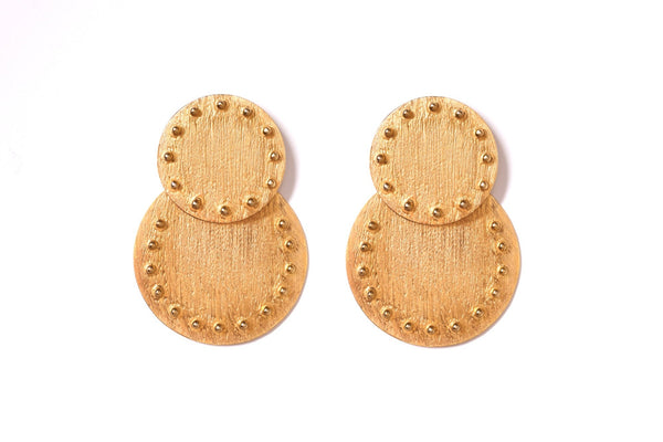 Rivet Double Drop Earrings