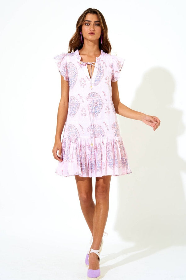 Cinched Flirty Dress- Samode Lavender