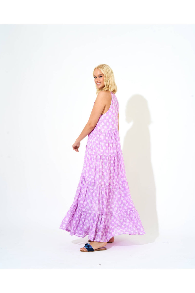 Long Tiered Tassel Dress- Virgo Lilac