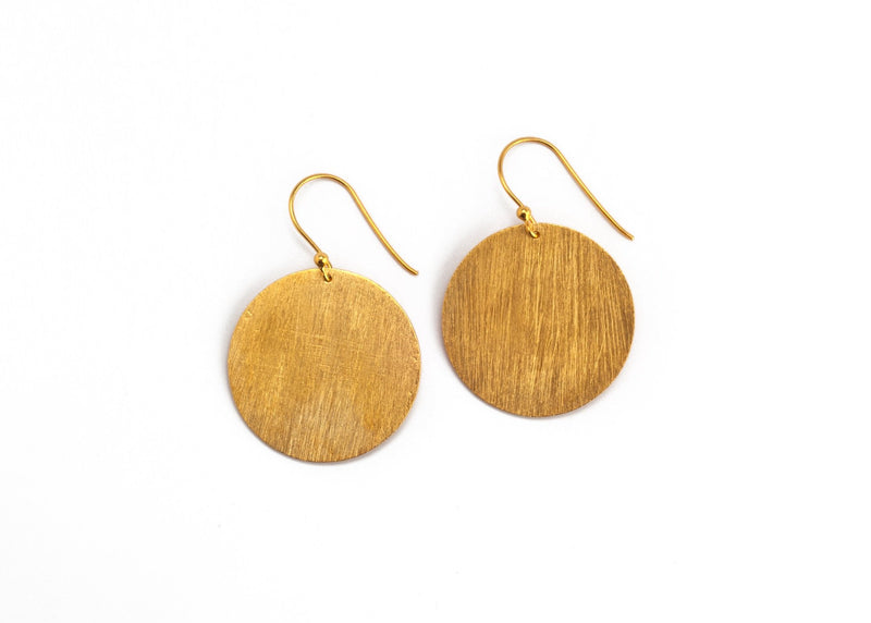 Brushed Disc Earrings