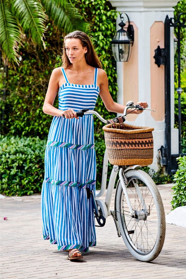 Strappy Maxi- Playa Blue