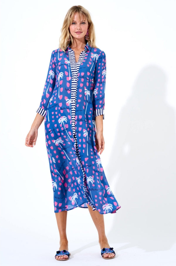 Shirt Dress Maxi- Ipanema Blue