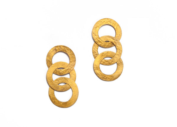 Triple Link Earrings