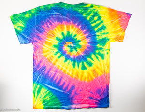 PEACE, LOVE & MUSIC 50TH ANNIVERSARY OF WOODSTOCK TIE DYED T-SHIRT ADULT'S SIZE MEDIUM