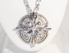 Load image into Gallery viewer, VINTAGE SIGNED MONET SILVERTONE PENDANT NECKLACE | LONG