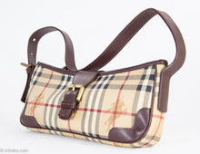 Load image into Gallery viewer, VINTAGE AUTHENTIC 'BURBERRY SIGNATURE HAYMARKET CHECK SHOULDER BAG ORIGINAL DUST BAG INCLUDED