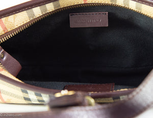 VINTAGE AUTHENTIC 'BURBERRY SIGNATURE HAYMARKET CHECK SHOULDER BAG ORIGINAL DUST BAG INCLUDED