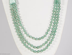 VINTAGE AVENTURINE BEAD/STATIONS NECKLACE