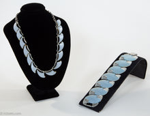 Load image into Gallery viewer, VINTAGE 1950'S CORO BLUE MOONGLOW THERMOSET NECKLACE AND BRACELET SET | RARE