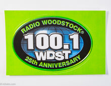 Load image into Gallery viewer, WOODSTOCK RADIO 25TH ANNIVERSARY STICKER