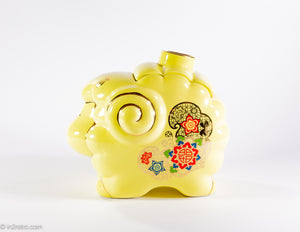 "VINTAGE ""EVERRICH"" LUCKY YELLOW RAM COOKIE JAR 