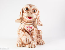 Load image into Gallery viewer, VINTAGE 'LOVE ME'  BROWN PUPPY DOG COOKIE JAR