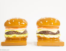 Load image into Gallery viewer, CERAMIC CHEESE BURGER BOOKENDS (ADVERTISING?)