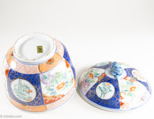 Load image into Gallery viewer, VINTAGE MADE IN JAPAN HAND-PAINTED PORCELAIN JAPANESE COVERED NOODLE RAMEN RICE SOUP BOWL