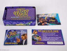 Load image into Gallery viewer, VINTAGE RACING JOE CAMEL RACING 50 BOOKS OF MATCHES GIFT BOX PURPLE COLLECTOR'S TIN | UNOPENED MINT