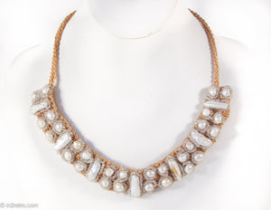 VINTAGE FRESHWATER PEARL COLLAR NECKLACE