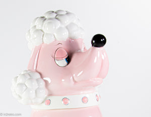 "VINTAGE ""JIM DCI"" PINK POODLE COOKIE JAR"