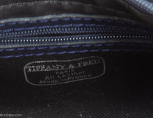 "Load image into Gallery viewer, VINTAGE PRE-LOVED ""TIFFANY & FRED"" DARK BLUE LEATHER AND PATENT ACCENTS HANDBAG - MADE IN FRANCE"