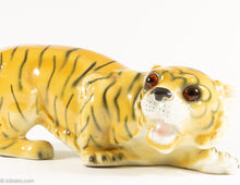 Load image into Gallery viewer, RARE VINTAGE PORCELAIN APEL CROUCHING TIGER STATUE FIGURINE MADE IN WEST GERMANY
