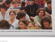 Load image into Gallery viewer, RARE WOODSTOCK 50TH 'THE CROWD' POSTER & US POSTAGE STAMP FROM BETHEL, NY POST OFFICE SHELLY RUSTEN