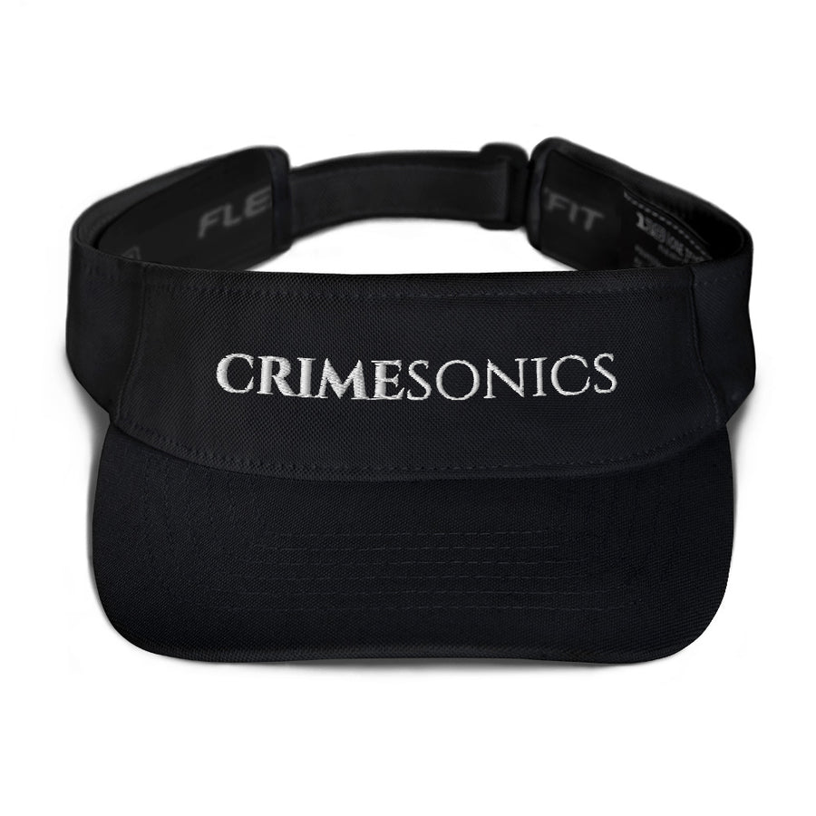 CrimeSonics Black Visor w/ White Logo