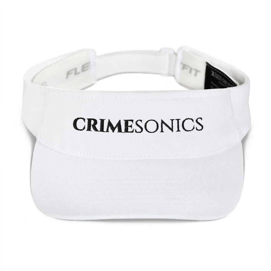 CrimeSonics White Visor Black Logo