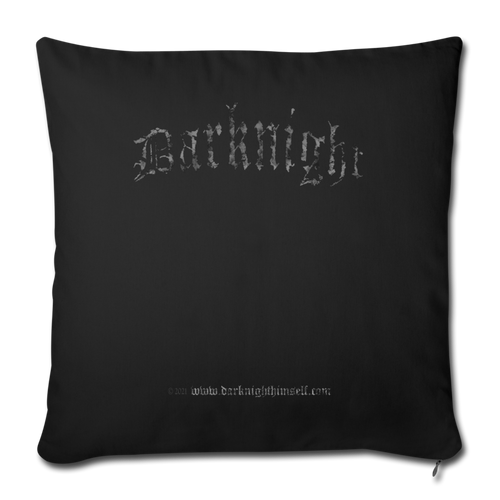 "Darknight | Throw Pillow Cover (18"" x 18"") - black"