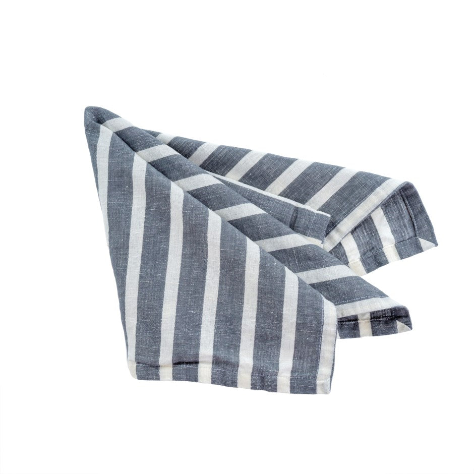 Stripe Cotton/Linen Napkins